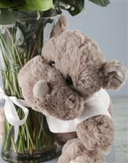 Baby Boy Floral Arrangement and Rhino Plush