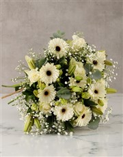 With Sympathy Lilies and Roses Arrangement