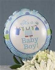 Mixed Roses and Chocs Baby Boy Gift