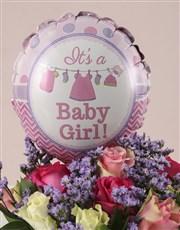 Mixed Roses Baby Girl Hamper