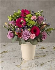 Candyfloss Pink Mixed Blooms Arrangement