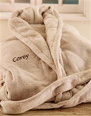 Personalised Stone Fleece Gowns - Large and XL <i>