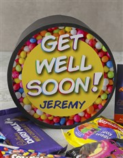 Personalised Get Well Sweet Hat Box