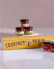Personalised Bees Knees Honey Jars Set