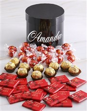 Personalised Assorted Mixed Chocs Hat Box