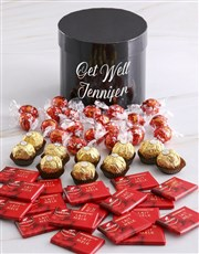 Personalised Assorted Get Well Mixed Choc Hat Box