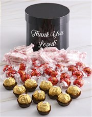 Personalised Assorted Thank You Mixed Choc Hat Box