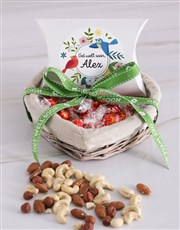 Personalised Get Well Nut Basket