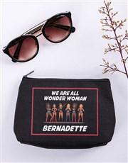 Personalised Wonder Woman Black Cosmetic Hamper