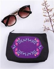 Personalised Flower Flair Black Cosmetic Hamper