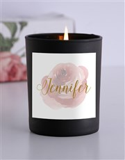 Personalised Watercolour Candle
