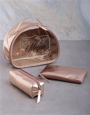 Personalised Rose Gold Vanity Bath And Body Set
