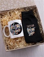 Personalised Get It Done Socks & Mug