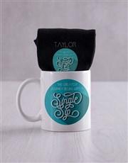 Personalised Greatest Journey Socks And Mug