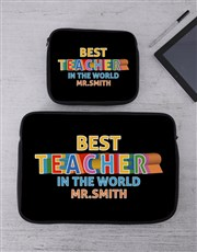 Personalised Teacher Tech Device Sleeve