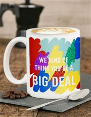 Personalised Big Deal Mug