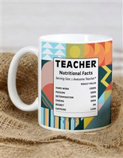 Personalised Teacher Facts Mug