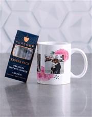 Personalised Floral Photo Mug