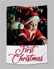 Personalised First Christmas Photo Blanket