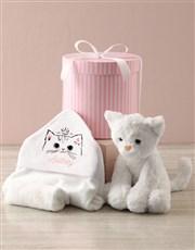 Personalised Kitten Hooded Towel