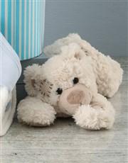 Personalised Blue Bear Hooded Towel