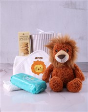 Personalised Baby Lion Hooded Towel