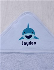 Personalised Shark Hooded Towel