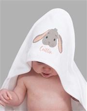 Personalised Bunny Hooded Towel