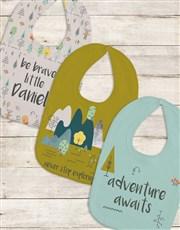 Personalised Set of Adventure Bibs