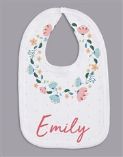 Personalised Floral Wreath Baby Gift Set