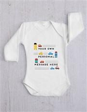 Personalised Car Baby Gift Set