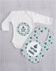 Personalised Sailor Baby Gift Set