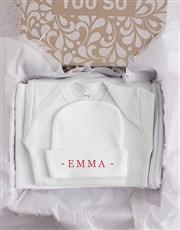 Personalised Flamingle Baby Gift Set