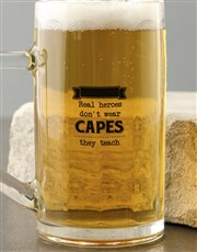 Personalised Real Heroes Beer Mug