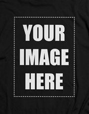 Personalised Own Image Black T Shirt