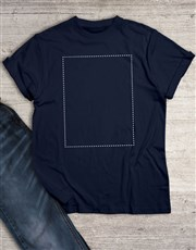 Personalised Own Image Navy T Shirt