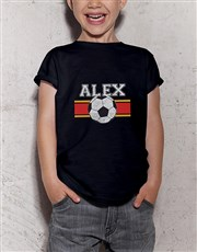 Personalised Soccer Star Kids T Shirt