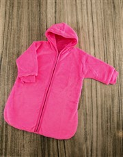 Make sure baby is warm with this pink personalised