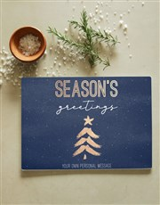 Personalised Season Glass Chopping Board