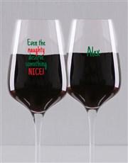 Personalised Something Nice Wine Glass