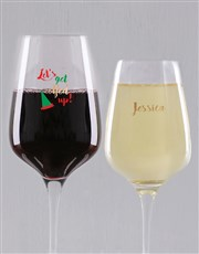 Personalised Elfed Up Wine Glass