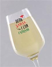 Personalised Dear Santa Wine Glass