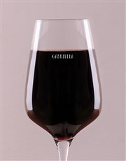 Personalised Above The Line Wine Glass