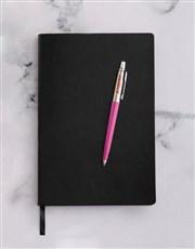 Personalised Parker Jotter Pink Pen