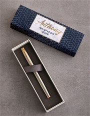 Personalise Geometric Parker Pen Sleeve Box