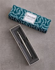 Personalised Tropical Parker Pen Sleeve Box