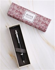 Personalised Foliage Parker Pen Sleeve Box