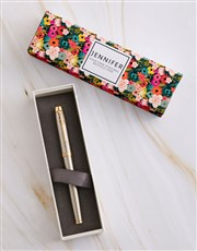 Personalised Floral Parker Pen Sleeve Box