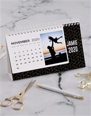 Personalised Geometric Desk Calendar