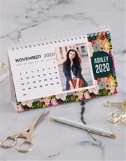 Personalised Bright Floral Desk Calendar